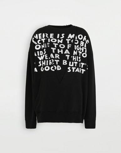 MM6 MAISON MARGIELA AIDS Charity sweatshirt Sweatshirt [*** pickupInStoreShipping_info ***] f