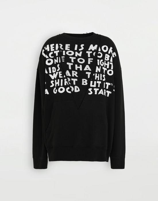 MM6 MAISON MARGIELA AIDS Charity sweatshirt Sweatshirt [*** pickupInStoreShipping_info ***] f