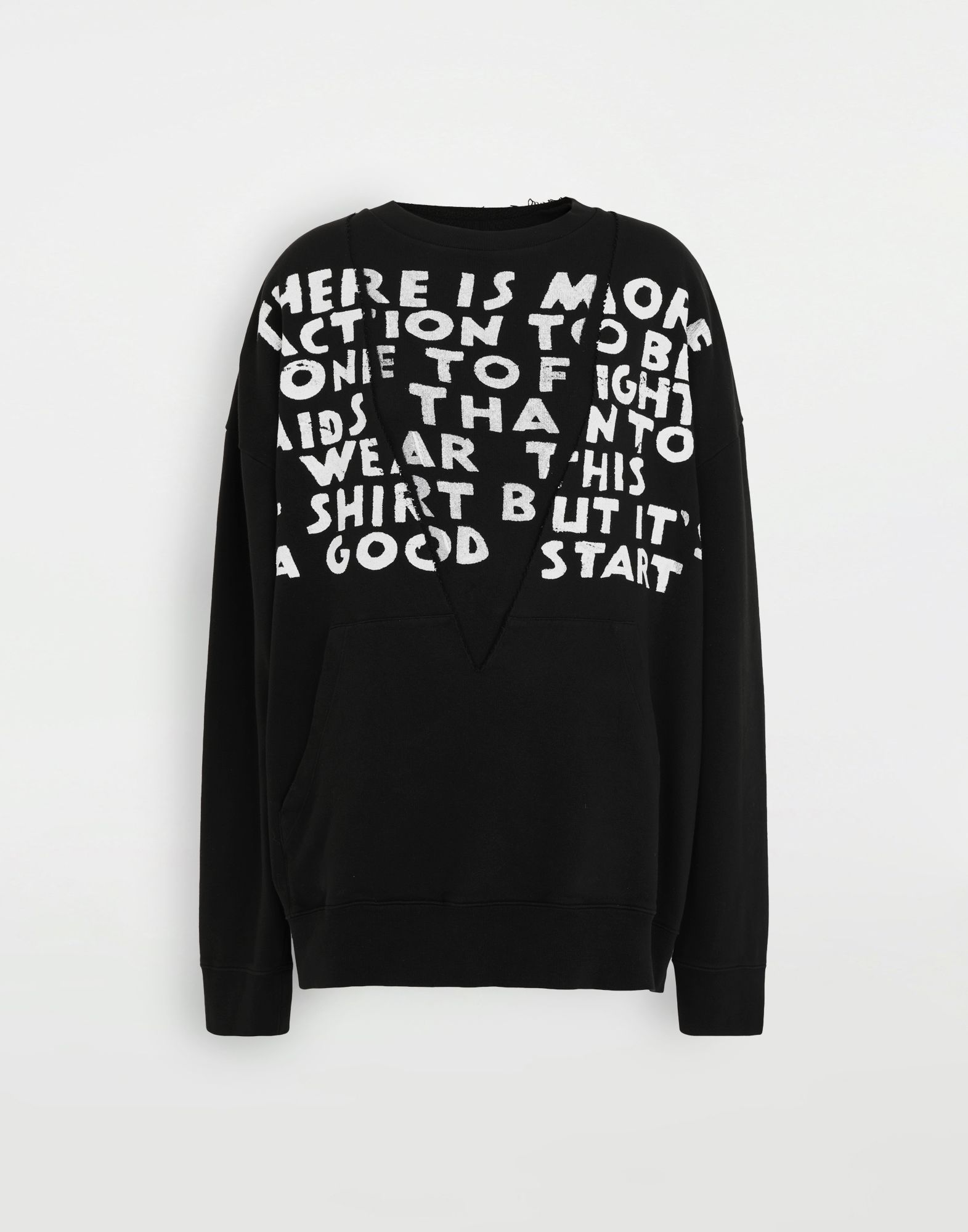 MM6 MAISON MARGIELA AIDS Charity sweatshirt Sweatshirt Woman f