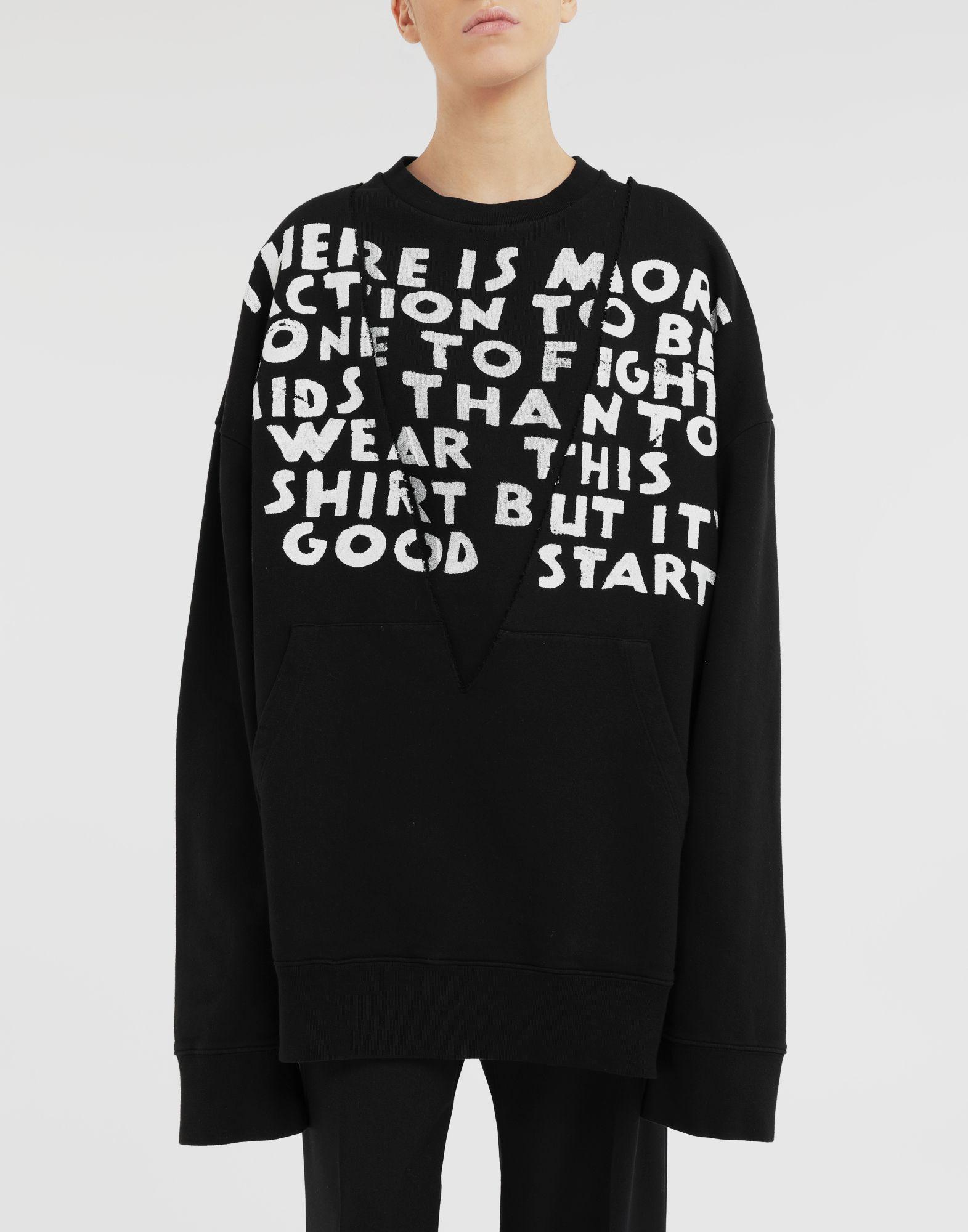 MM6 MAISON MARGIELA AIDS Charity sweatshirt Sweatshirt Woman r