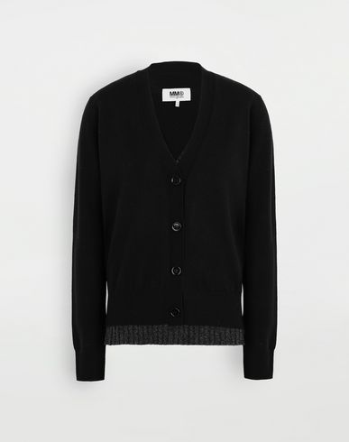 SWEATERS Multi-wear wool cardigan Black