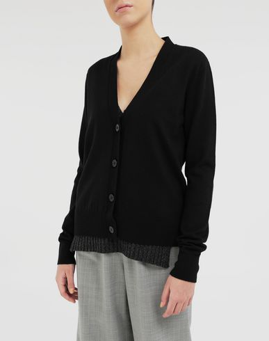 KNITWEAR Multi-wear wool cardigan Black