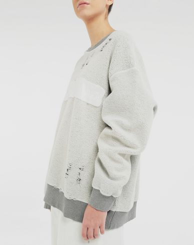 SWEATERS Logo reversible sweatshirt Light grey