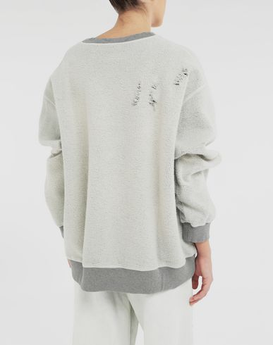 KNITWEAR Logo reversible sweatshirt Light grey