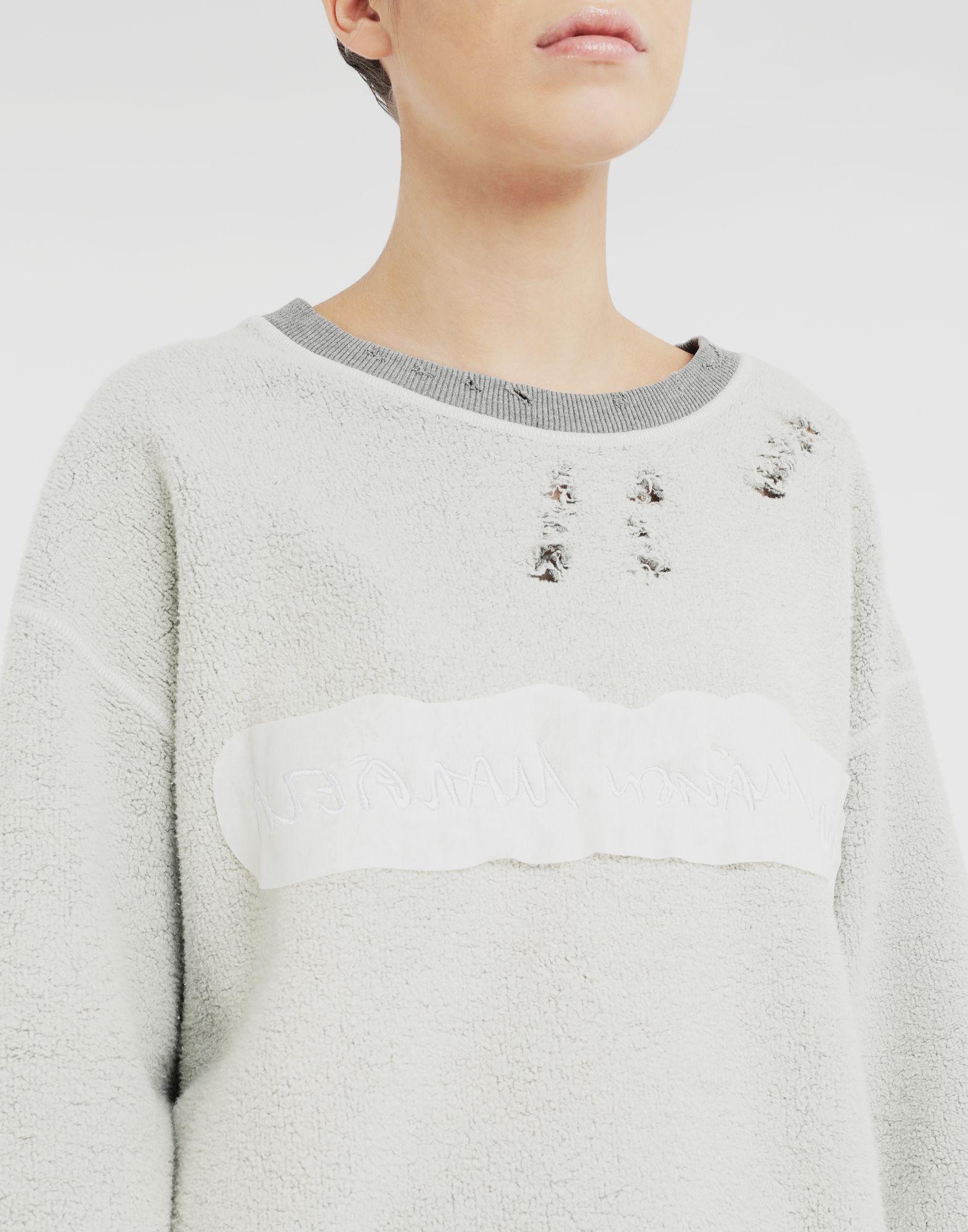 MM6 MAISON MARGIELA Logo reversible sweatshirt Sweatshirt Woman a
