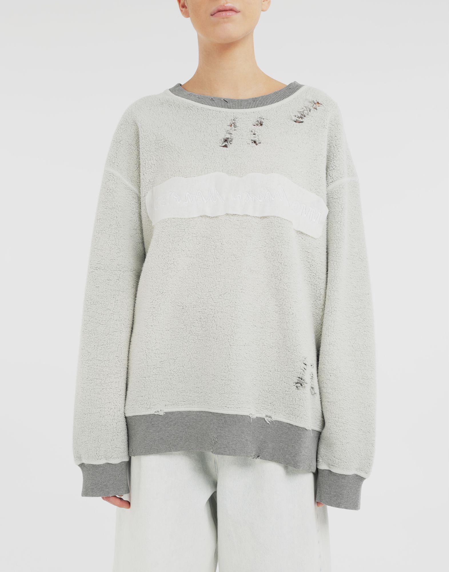 MM6 MAISON MARGIELA Logo reversible sweatshirt Sweatshirt Woman r