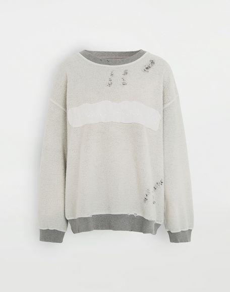 MM6 MAISON MARGIELA Logo reversible sweatshirt Sweatshirt Woman f