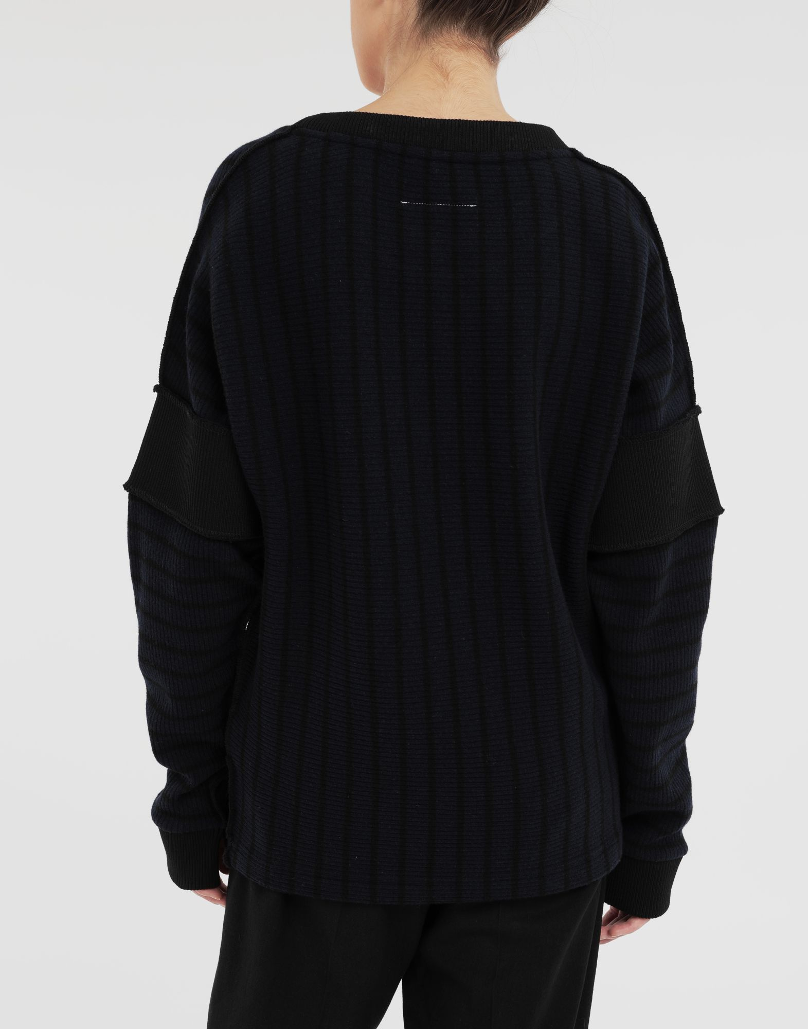 MM6 MAISON MARGIELA Stripe sweater Long sleeve t-shirt Woman e