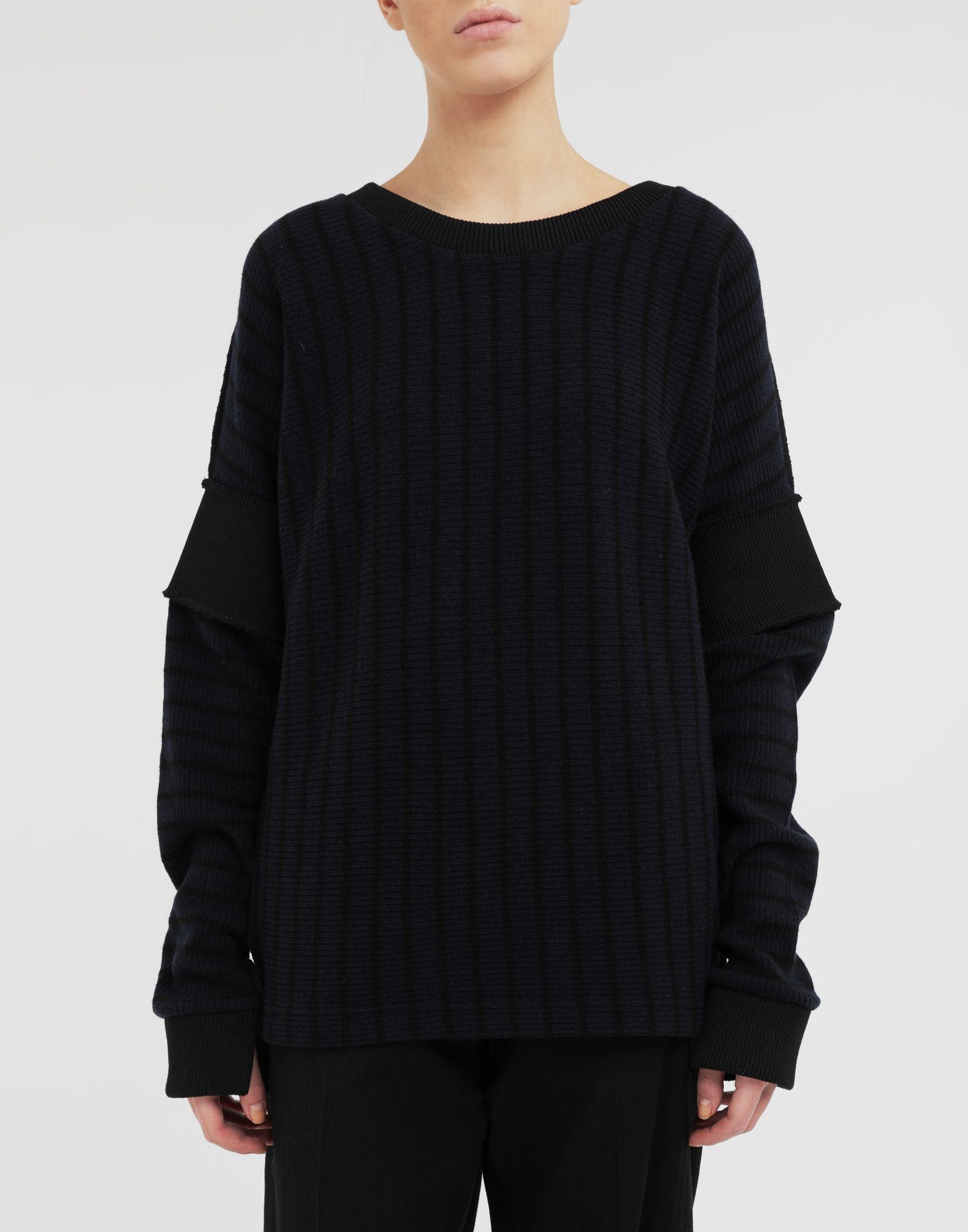 MM6 MAISON MARGIELA Stripe sweater Long sleeve t-shirt Woman r
