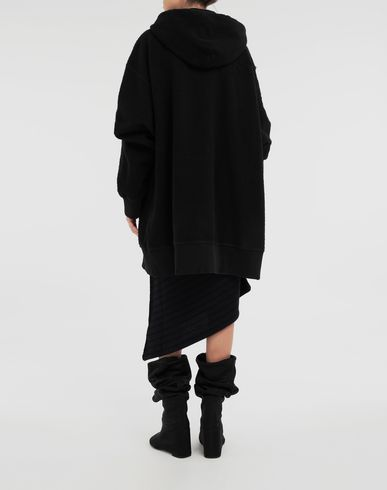 SWEATERS Reversed hoodie dress Black