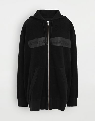KNITWEAR Reversed hoodie dress Black