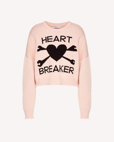 """Heart Breaker"" intarsia wool blend sweater"