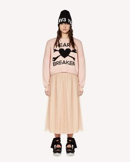 "REDValentino ""Heart Breaker"" intarsia wool blend sweater"
