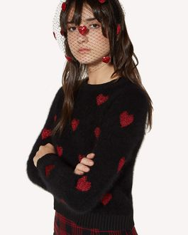 REDValentino Mohair jumper with Heart inlay