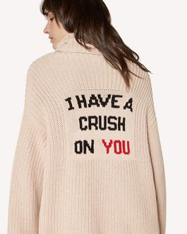 "REDValentino  ""I Have a Crush on You ""intarsia cotton sweater"