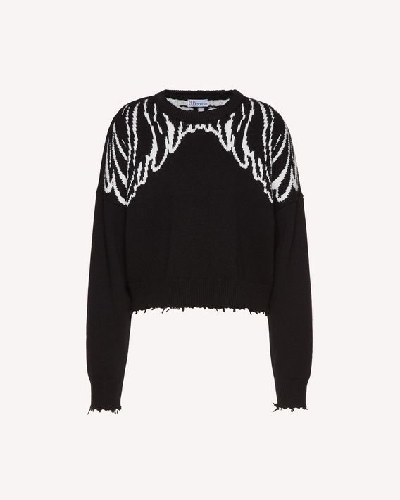 REDValentino Wings jacquard wool blend sweater