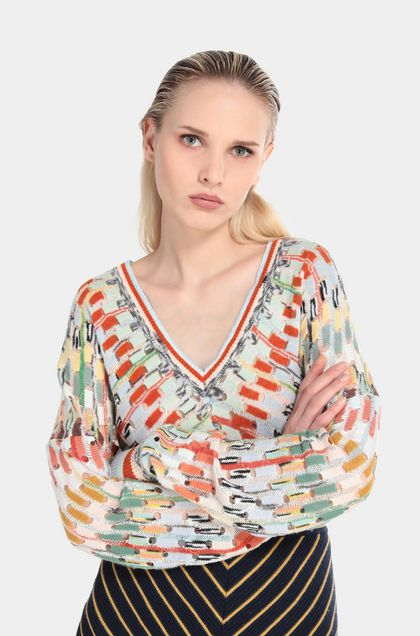 MISSONI V-Neck Light green Woman - Front