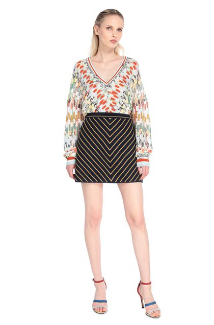 MISSONI V-Neck Light green Woman - Back