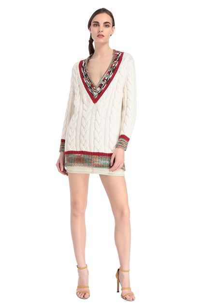 MISSONI V-Neck Ivory Woman - Back