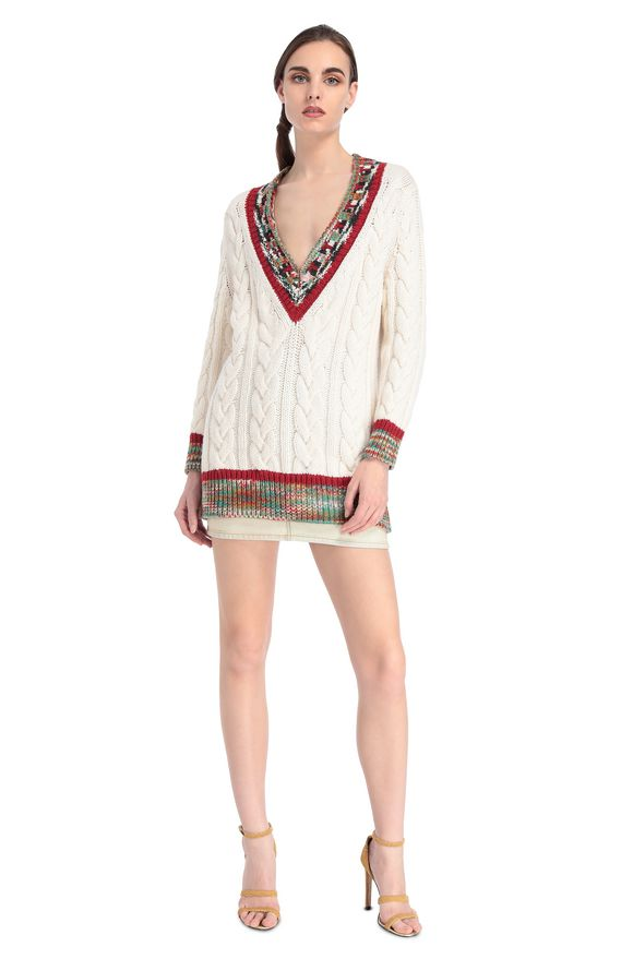 MISSONI V-Neck Ivory Woman