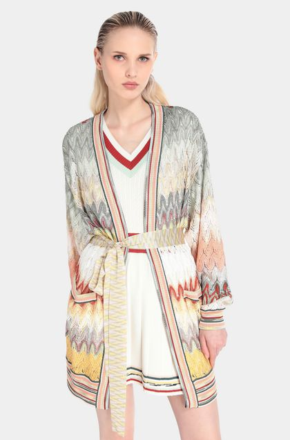 MISSONI Cardigan Light green Woman - Front
