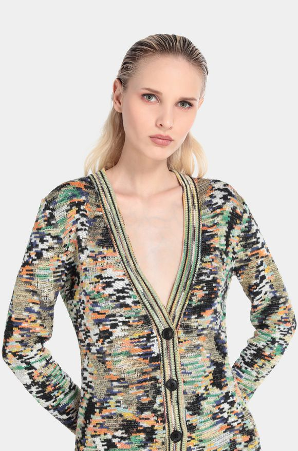 MISSONI Long cardigan Woman, Rear view
