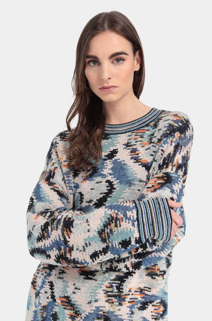 MISSONI Crew-neck Blue Woman - Front