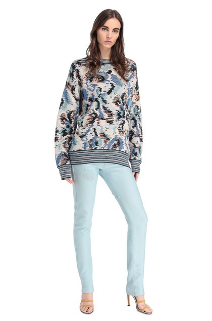 MISSONI Crew-neck Blue Woman - Back