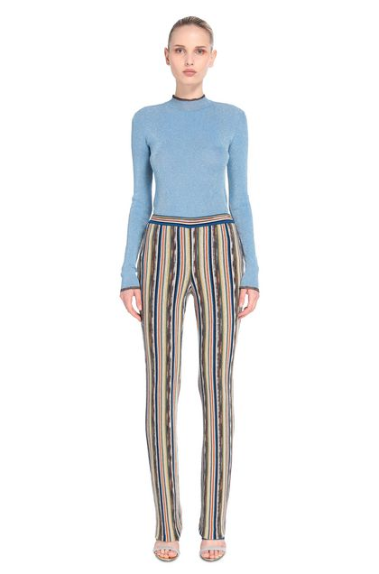 MISSONI Jumper Pastel blue Woman - Back