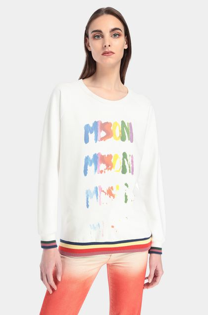 MISSONI Sweatshirt White Woman - Front