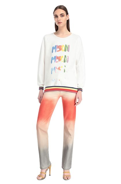 MISSONI Sweatshirt White Woman - Back