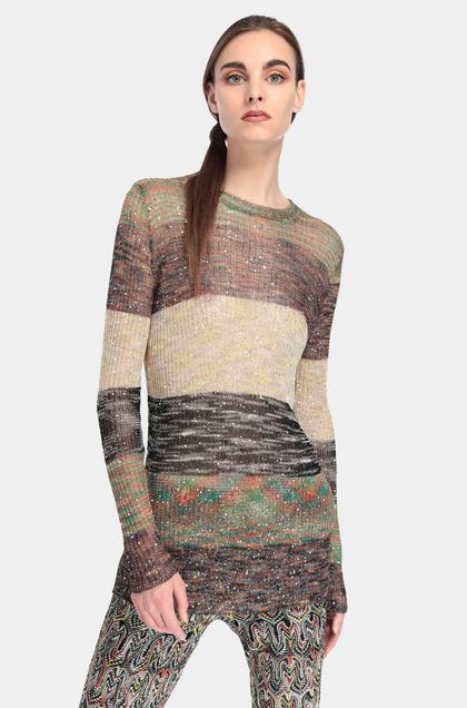 MISSONI Jumper Light yellow Woman - Front