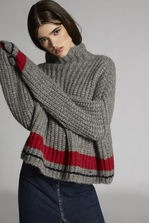 DSQUARED2 Alpaca Turtleneck Over Pullover High neck sweater Woman