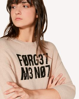 "REDValentino ""Forget Me Not""  jacquard wool blend sweater"
