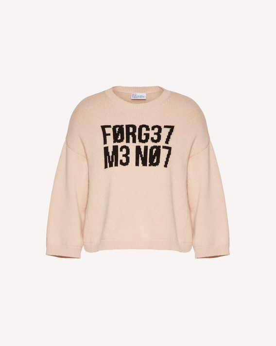 "REDValentino Wool jumper with ""Forget Me Not"" jacquard"