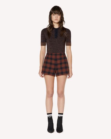 REDValentino Check lurex jacquard stretch viscose sweater