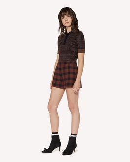 REDValentino Check jumper in elasticated viscose and lurex jacquard