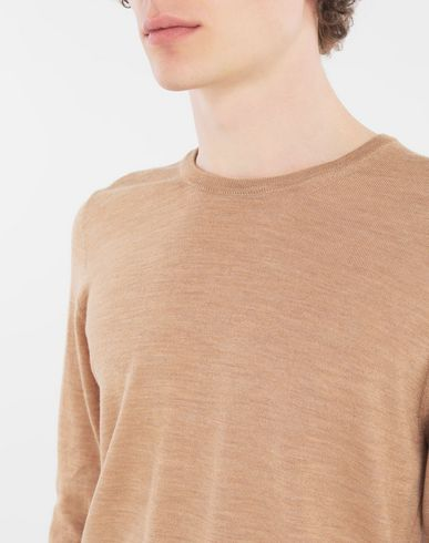 SWEATERS Wool sweater Camel