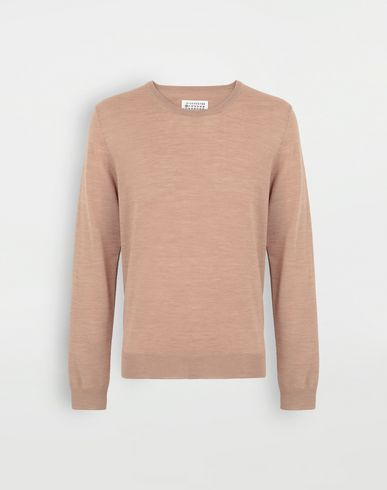 KNITWEAR Wool sweater Camel