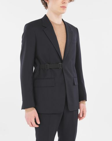 COATS and JACKETS Side-strap blazer Blue