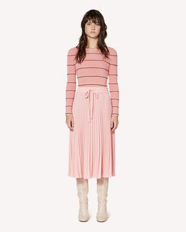 REDValentino Ruffles detail  cotton sweater
