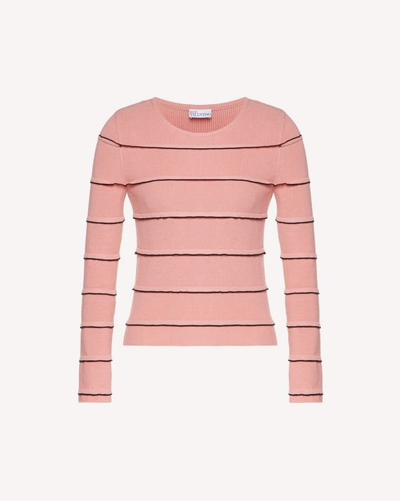 REDValentino Cotton jumper with ruffle detail