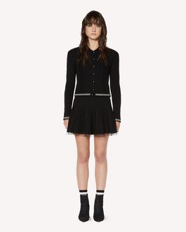 REDValentino Mini wool cardigan with heart patch