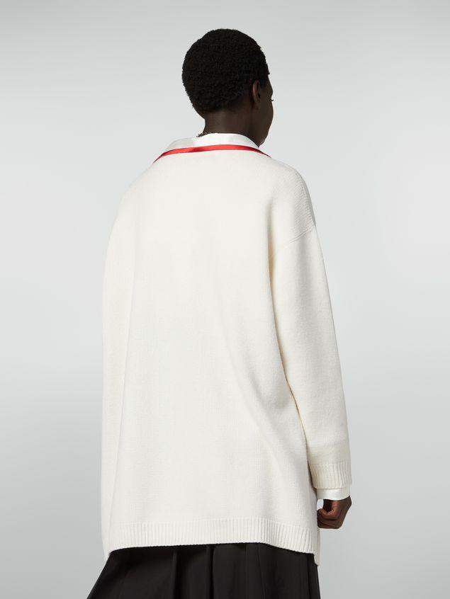 Marni Long-sleeved cardigan in shetland wool Woman