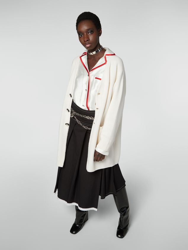 Marni Long-sleeved cardigan in shetland wool Woman - 5