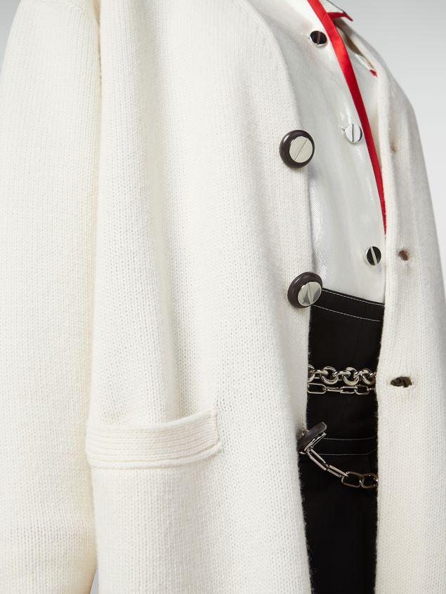 Marni Long-sleeved cardigan in shetland wool Woman - 4