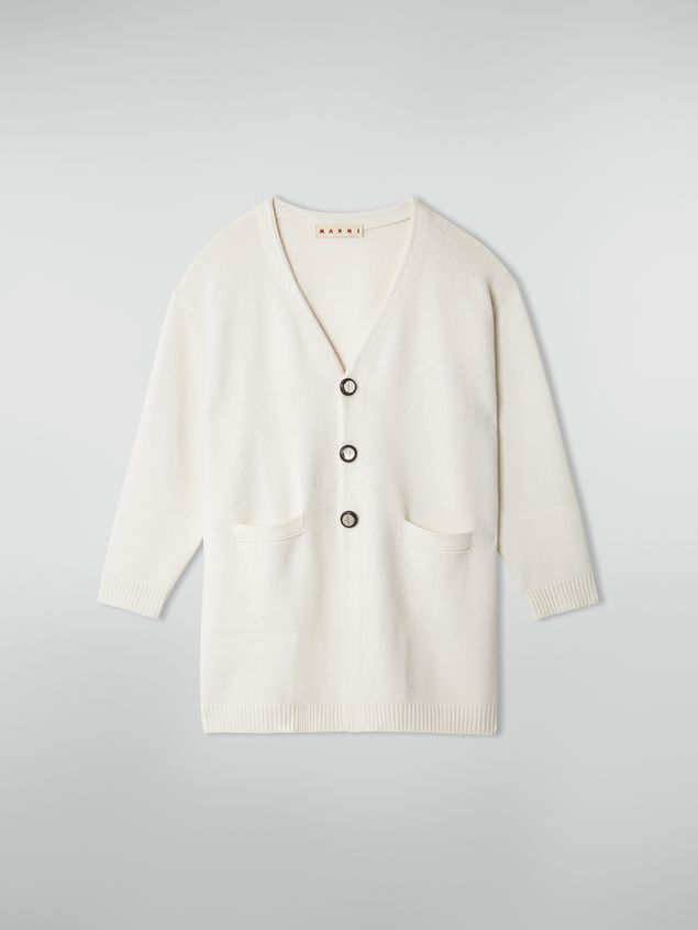Marni Long-sleeved cardigan in shetland wool Woman - 2