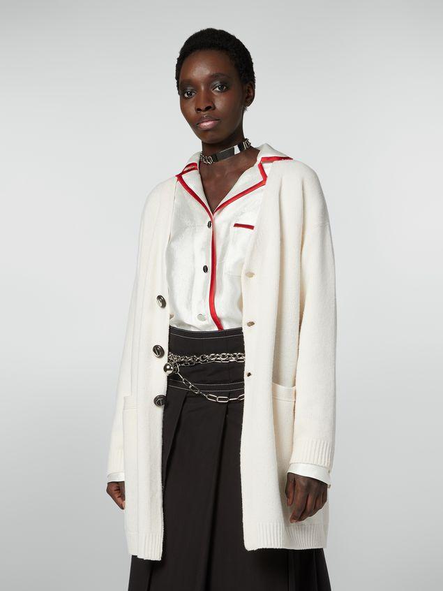 Marni Long-sleeved cardigan in shetland wool Woman - 1