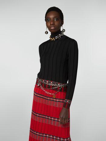 Marni Flat-ribbed turtleneck in twisted wool Woman