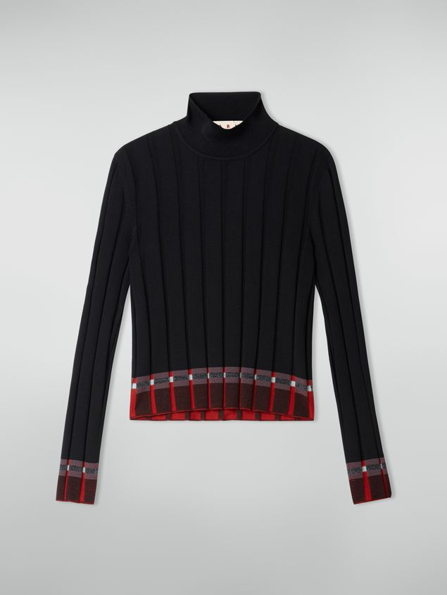 Marni Flat-ribbed turtleneck in twisted wool Woman - 2
